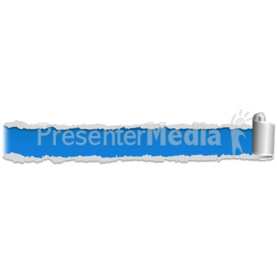 Paper Scroll Tear Four PowerPoint Clip Art