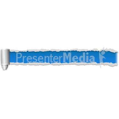 Paper Scroll Tear Three PowerPoint Clip Art