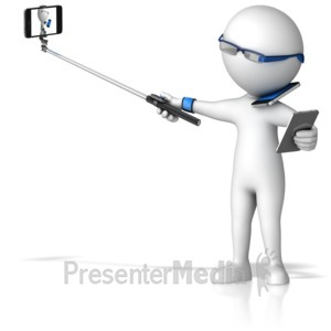 ID# 16409 - Figure Consumed in Mobile Technology - Presentation Clipart