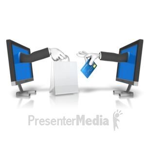 ID# 16410 - Online Shopping Transaction - Presentation Clipart