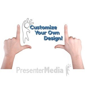 ID# 16413 - Hands Frame Idea Custom - Presentation Clipart