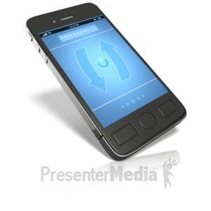 ID# 16423 - Smart Phone Processing - Presentation Clipart