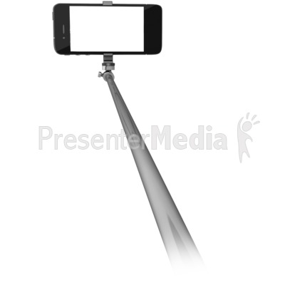 phone on selfie stick home and lifestyle great clipart for presentations www. Black Bedroom Furniture Sets. Home Design Ideas