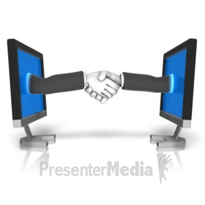 ID# 16432 - Business Meeting Online - Presentation Clipart