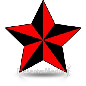 ID# 16438 - Precise Nautical Star - Presentation Clipart
