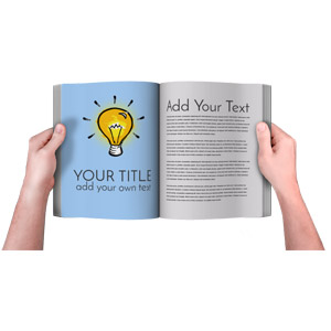 ID# 16440 - Hands Holding Book Custom - Presentation Clipart