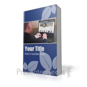 ID# 16447 - Paperback Book - Presentation Clipart