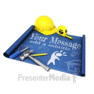 ID# 16456 - Custom Blueprint Tools - Presentation Clipart