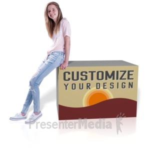 ID# 16535 - Teen Girl Lean Custom - Presentation Clipart