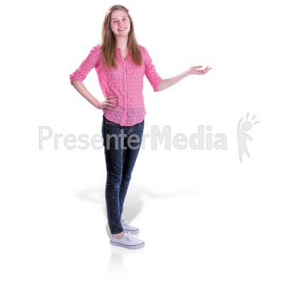 Teen Girl Gesture Side PowerPoint Clip Art