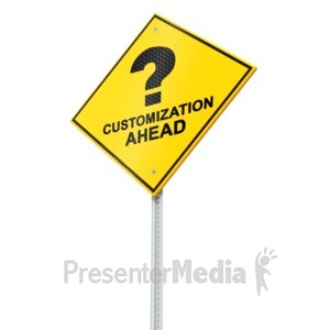 ID# 16545 - Caution Street Sign - Presentation Clipart