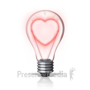 ID# 16557 - Heart Light - Presentation Clipart