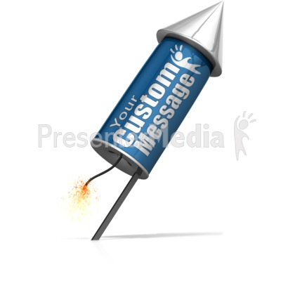 Custom Rocket Ready To Launch Presentation clipart