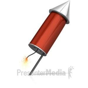 ID# 16570 - Rocket Ready To Launch - Presentation Clipart