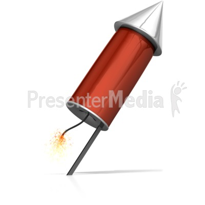 Rocket Ready To Launch PowerPoint Clip Art