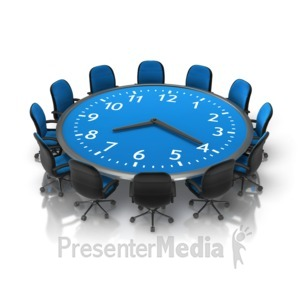 ID# 16571 - Meeting Time Table - Presentation Clipart