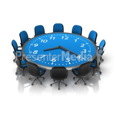 Meeting Time Table PowerPoint Clip Art