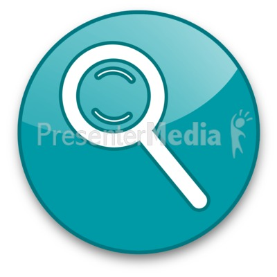 Magnifying Glass Button PowerPoint Clip Art