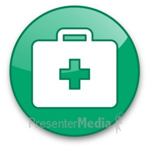 ID# 16617 - Medical Briefcase Button - Presentation Clipart