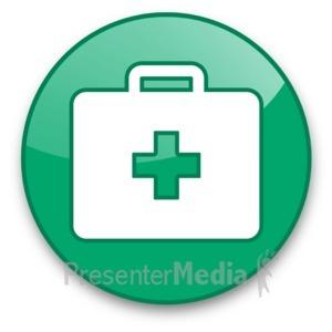 ID# 16617 - Medical Briefcase Button - Presentation Clipart