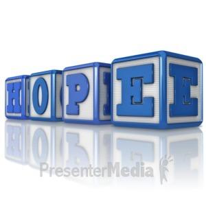 ID# 16642 - Hope Blocks - Presentation Clipart