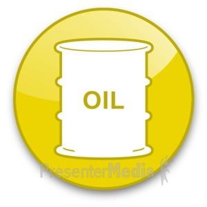 ID# 16650 - Oil Barrel Button - Presentation Clipart