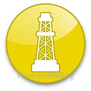 ID# 16651 - Oil Rig Button - Presentation Clipart