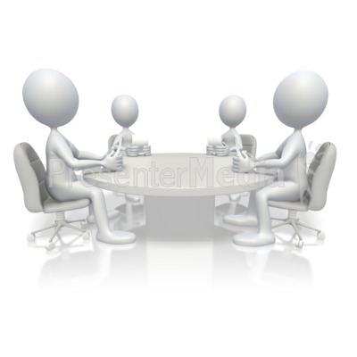 Round Table Conference Education And School Great Clipart For - Conference room table and chairs clip art