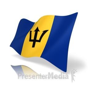 ID# 16681 - Barbados Flag - Presentation Clipart