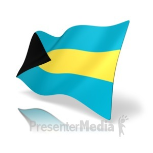 ID# 16682 - Bahamas Flag - Presentation Clipart