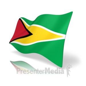 ID# 16683 - Guyana Flag - Presentation Clipart