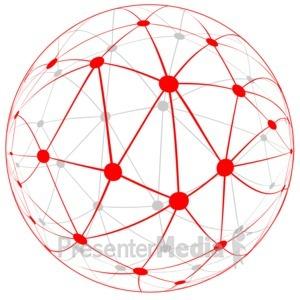 ID# 16687 - Network Globe - Presentation Clipart