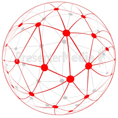 Network Globe PowerPoint Clip Art