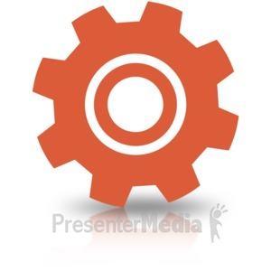 ID# 16694 - Single Gear Simple - Presentation Clipart