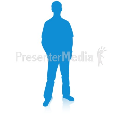 Man Silhouette Single Pose PowerPoint Clip Art