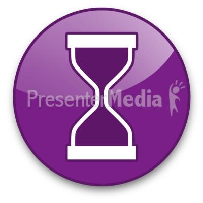 Hourglass Button PowerPoint Clip Art