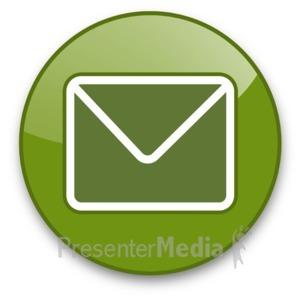 ID# 16709 - Envelope Button - Presentation Clipart