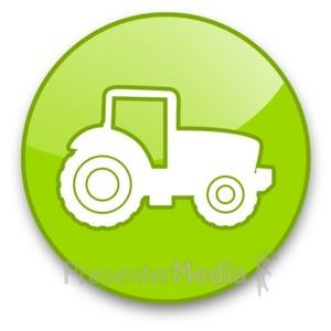 ID# 16712 - Tractor Button - Presentation Clipart
