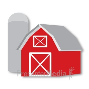 ID# 16715 - Barn and Silo - Presentation Clipart