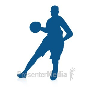 ID# 16721 - Basketball Dribble Two - Presentation Clipart