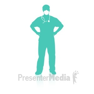 ID# 16738 - Medical Person One - Presentation Clipart