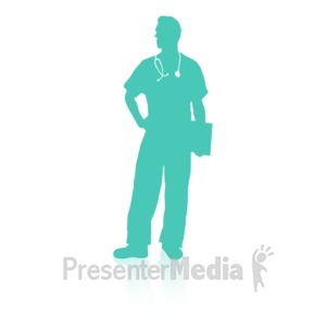 ID# 16739 - Medical Person Two - Presentation Clipart
