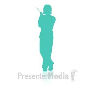 ID# 16740 - Medical Person Three - Presentation Clipart