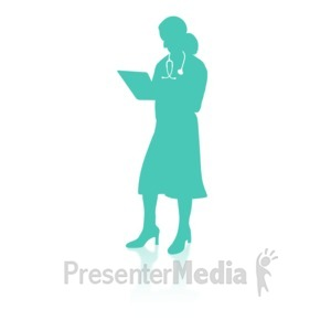 ID# 16741 - Medical Person Four - Presentation Clipart