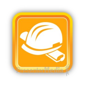 ID# 16805 - Construction Hard Hat - Presentation Clipart