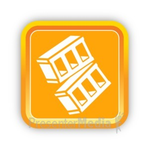 ID# 16808 - Construction Bricks One - Presentation Clipart