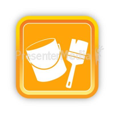 Construction Paint and Paintbrush PowerPoint Clip Art