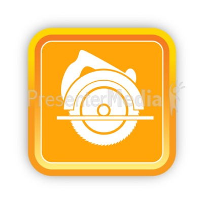 Construction Circular Saw PowerPoint Clip Art