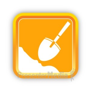 ID# 16815 - Construction Shovel - Presentation Clipart