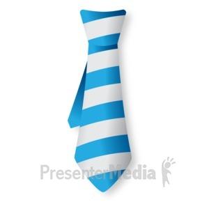 ID# 16818 - Striped Tie - Presentation Clipart